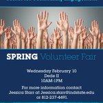 TODAY: Spring Volunteer Fair from 10am-1pm! #PayItForward #MoreToBlue https://t.co/kLfJoUg9l9