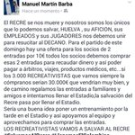 Gran idea @ManuelPeli todos los socios a comprar las entradas y que @recreoficial ponga un entreno por la tarde https://t.co/BK4wRTLgy3