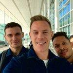 Off we go to Valencia! ✈️🏆@AdrianoCorreia6 @thomasvermaelen 🇧🇪🇩🇪🇧🇷 What language should we speak in ? 😂😂 https://t.co/R1lRTMCfeC