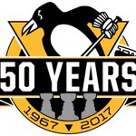 50th Anniversary 2016-2017 season logo for @penguins features 3 Stanley Cup championships: 91 92 09 #LetsGoPens https://t.co/vGbyeSce5L