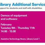 Pop in for a demo of equipment software @upsu @PlymUni on Level 1 of the Library this afternoon #JustAskUs https://t.co/gCtGRwIQZg