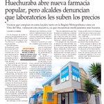 Huechuraba abre nueva farmacia popular, pero alcaldes denuncian que laboratorios les suben los precios https://t.co/c4prWzrgKn