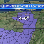 """***WINTER WEATHER ADVISORY*** ADDITIONAL SNOW TODAY, TONIGHT, THURSDAY: 4-6"""" north of Pittsburgh near Interstate 80. https://t.co/tgdaNNzyrs"""
