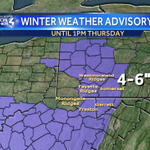 """***WINTER WEATHER ADVISORY*** ADDITIONAL SNOW TODAY & TONIGHT: 4-6"""" for higher elevations south/east of Pittsburgh. https://t.co/xvLHd90hBo"""
