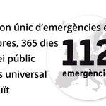 Bon dia, avui 11-2 és el Dia Europeu del #112 (1-1-2). El @112 és el tel. únic demergències europeu https://t.co/rWOFU2coUN