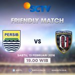 Friendly match antara Persib VS Bali United, 13 Februari 2016 pukul 19.00 WIB. Live! https://t.co/D4RqvS1frv