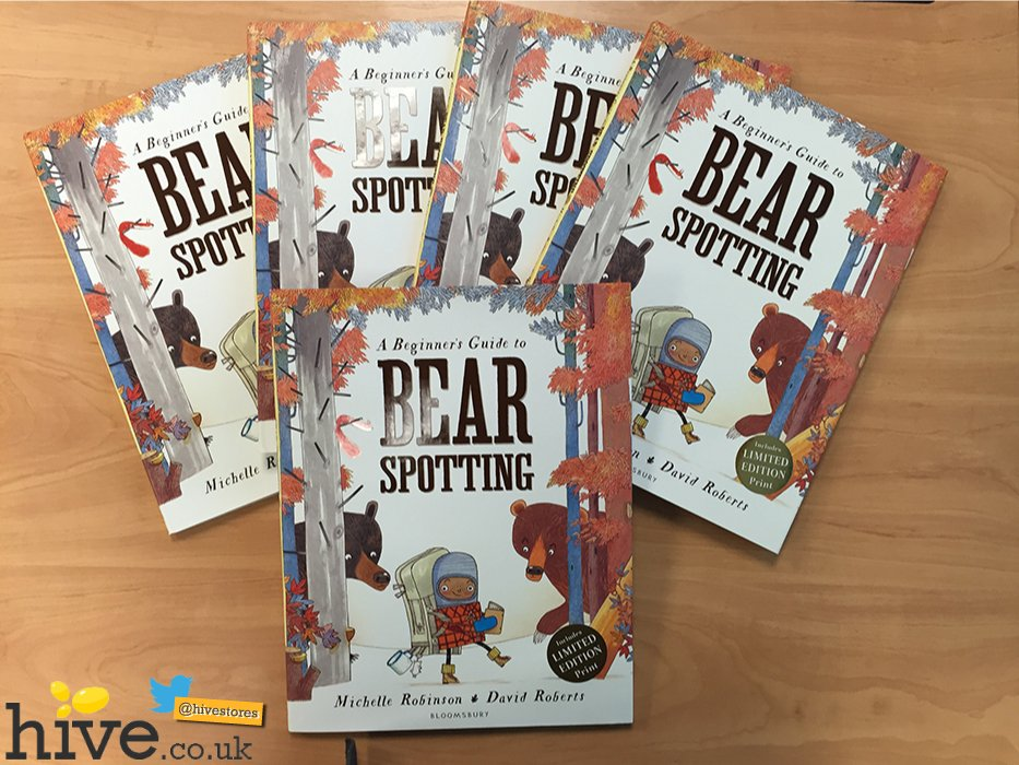 And you could #win 1 of 5 copies of @MicheRobinson's #BearSpotting today! HOORAY! Just RT & follow us to enter :)