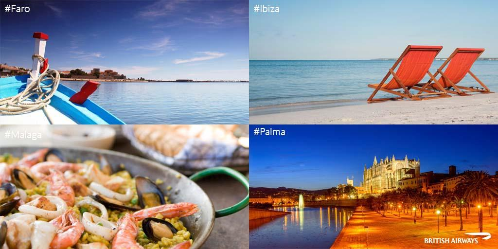 Happy to announce from 28 May we'll be flying London Stansted to Faro, Malaga, Palma & Ibiza