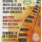 #ChileCelebra Gran Concierto de Tito Beltrán y Roberto Bravo / 14 de febrero / 20:00 hrs / ¡Entrada liberada! https://t.co/iYZ7zn3Wxk