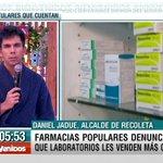 .@danieljadue AHORA en #Bienvenidos13 y la denuncia de DISCRIMINACIÓN a las FARMACIAS POPULARES… https://t.co/7OLE4Iwyof
