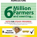 We have over 6Million farmers in Uganda majorly in subsistence and commercial agriculture #VoteSevo #SteadyProgress https://t.co/p4LRVBcYma