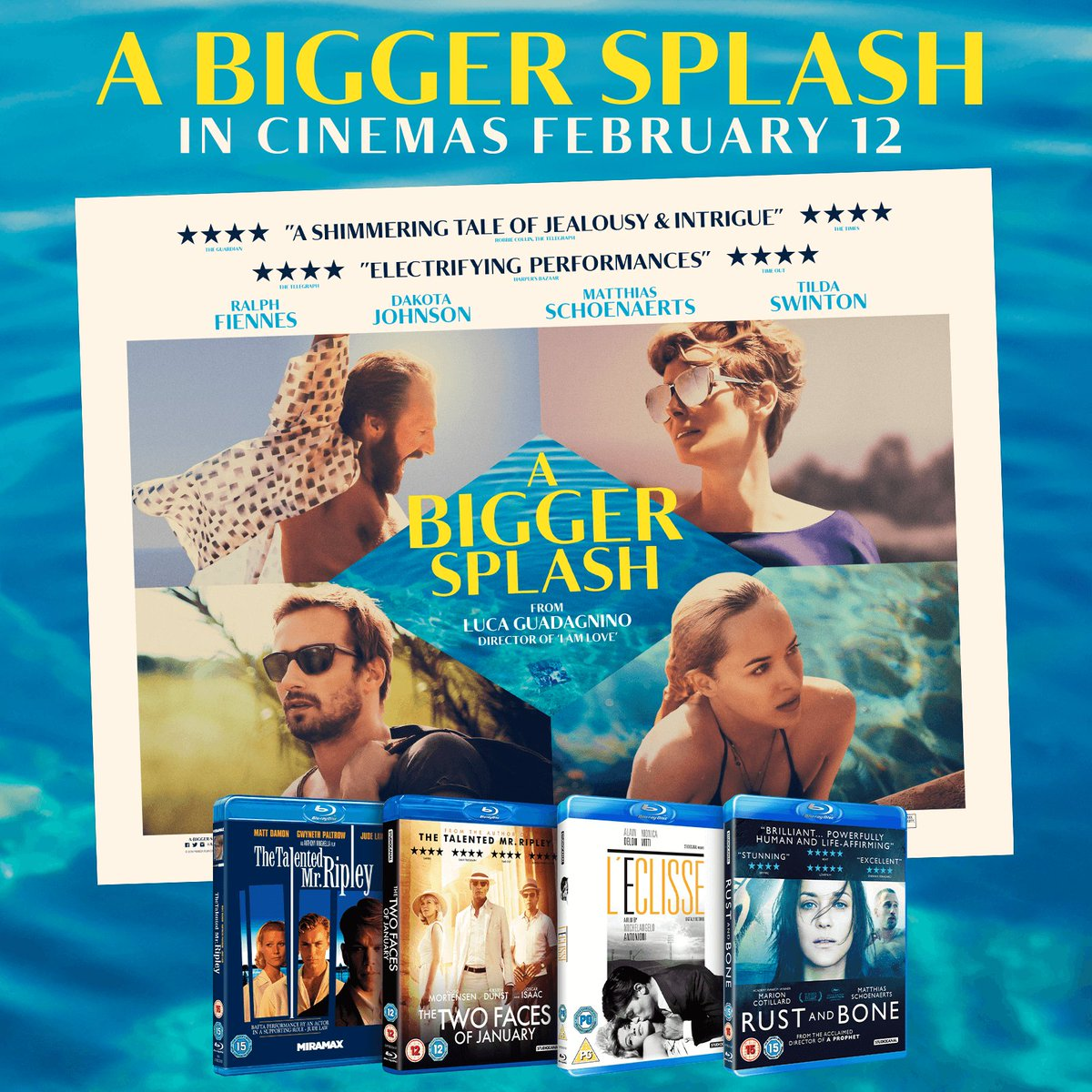 #ABiggerSplash is out this Friday and we've got this ace prize bundle from @StudiocanalUK to giveaway. RT to win! https://t.co/ryCSiQqXcr
