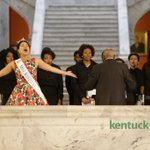Miss Kentucky Clark Janell Davis sung during Black History Month celebration at capital @heraldleader https://t.co/inppA9ecSW