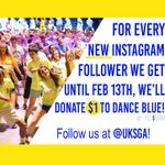 .@universityofky - we need your help! For every new follower on Instagram we get, $1 will go to @UKDanceBlue #FTK! https://t.co/WqZxKUwSqy