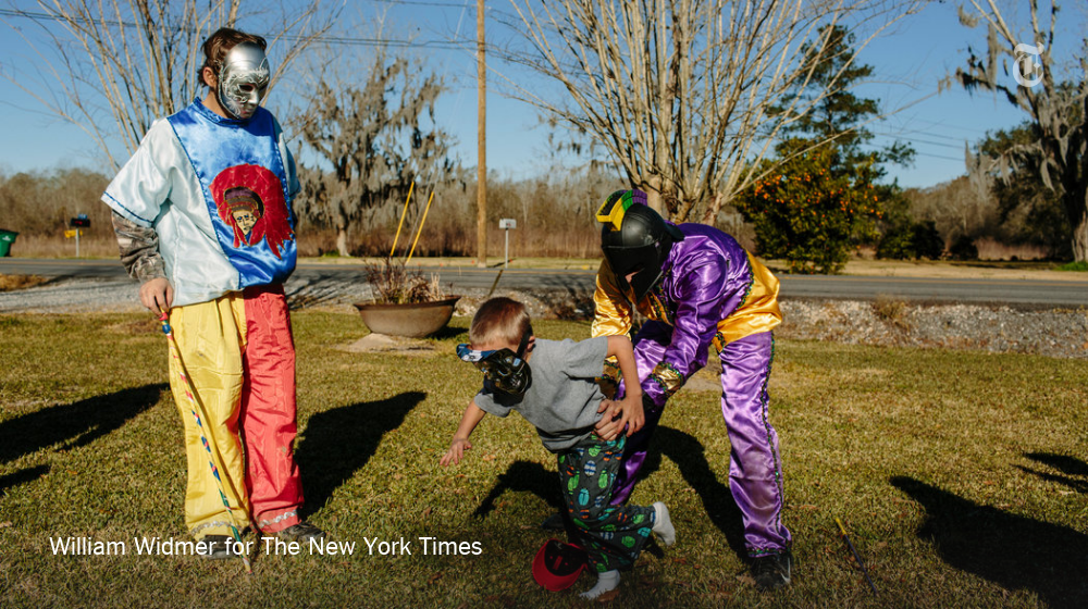In this Mardi Gras celebration, children are chased down for a lesson in religion