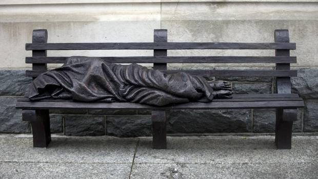 Canadian artist's 'jarring' Homeless Jesus sculpture lands in Tampa