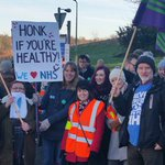 Support for #juniordoctors at North Manchester General Hospital. With @unison_pennine https://t.co/VVFjFbRbfw