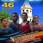 """Festival de lucha en el marco del """"Día de Punto Fijo"""" organizado por el IMDC y @alcarirubana .@cactus24noticia https://t.co/xqyall3M5Y"""