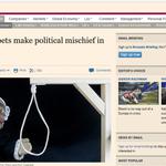 Otro éxito más para este Gobierno: la sección Internacional del Financial Times abriendo con lo de los titiriteros. https://t.co/xe7JVeVxIK