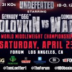 Its official, Ill be squaring off with @_DomoWade at @TheForum on April 23rd. Use #GolovkinWade to discuss. https://t.co/6C77RNrPYC