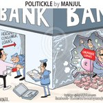 PSU #banks hit hard by #BadLoans. My #cartoon https://t.co/iGno8QJBYx