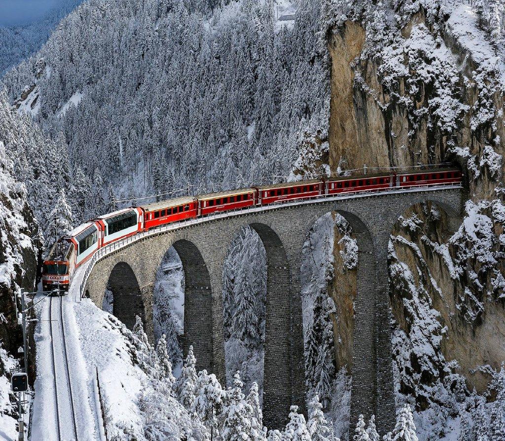 Bernina express, Switzerland | Photography by ©Michael Nebuloni https://t.co/vRnhuGxyI9