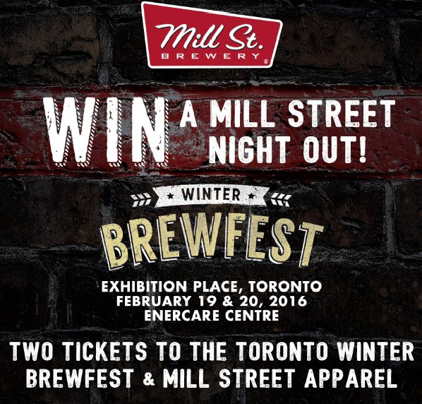 Enter to win a Mill Street Night Out @BrewfestToronto  RT and tag a friend you would want to bring. https://t.co/roPP7ZKzJe