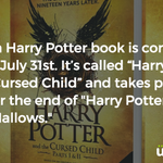 An eighth Harry Potter book is coming out! https://t.co/v4f1sbkc57