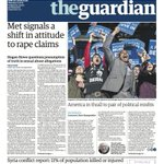 The Guardian front page, Thursday 11 February 2016: Met signals a shift in attitude to rape claims https://t.co/YTxnzSsGK0