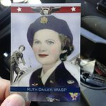 Yes, thats an actual trading card of Ruth Dailey Helm, a WASP during WWII. Hear from her son @ 6 #tucson https://t.co/V560MSHRGy