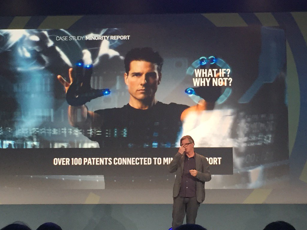 Art leads the future. Over 100 patents came from Minority Report. #VisionSummit16 https://t.co/lfugYlY1Vn