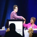 Not every day you do a fist bump with @BillieJeanKing at  Susan B. Anthony Luncheon https://t.co/igj5W2IAbf