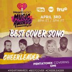 RT TO VOTE FOR #Cheerleader for #BestCoverSong at the #iHeartAwards! ???? @PTXofficial https://t.co/aPueslGLA4 https://t.co/ZClLlPL1Td