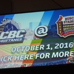 HUGE announcement for the CBC Mustangs baseball team! October 1st! #gomustangs #stangbang https://t.co/KD8LR1XgIk
