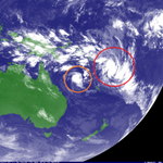Impressive South Pacific infrared satellite image this morning as a pair of cyclones churn across the tropics. https://t.co/fmmmtGRysb