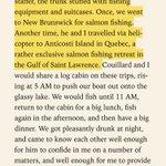Anticosti : Arthur Porter est très précis dans son livre sur son expédition de pêche avec son meilleur ami. #Assnat https://t.co/uwGBhwV9oh
