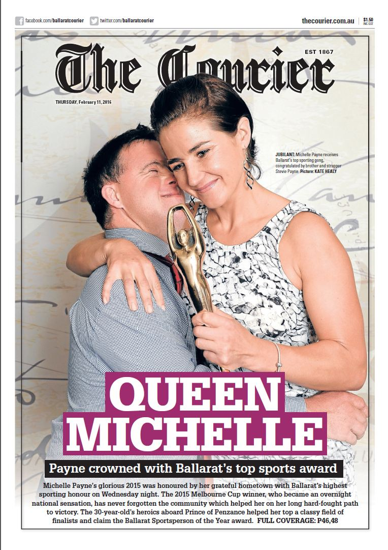 Check out today's front page. What a great photo of Ballarat Sportsperson of the Year @mj_payne with brother Stevie https://t.co/lw63hT0hAZ
