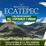 Este 14 de Febrero Mensaje de Paz de S.S. Francisco #PapaEnEdoméx #Ecatepec https://t.co/IYS8yoDCNH https://t.co/gGDRLlJYVj