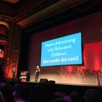 Native advertising with reluctant children! Dot tumblr dot com @dooce #webstock https://t.co/89Xxl3SuKF