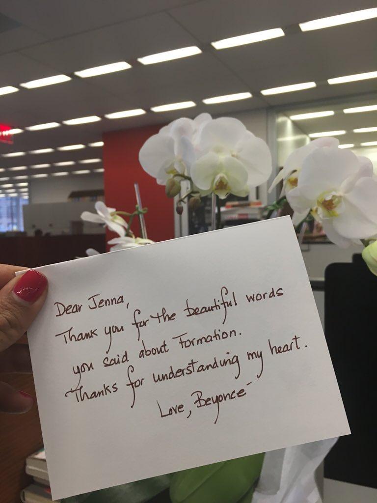 """""""Love, Beyoncè"""" https://t.co/rJTD8UAS1r"""