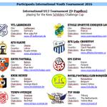 @KMSKDeinze Deelnemers aan ons international jeugdtoernooi bekend. Op 28 en 29 mei spelen deze D teams tegen elkaar https://t.co/uCnQdVH8Tb