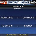 DFB Pokal semi finals https://t.co/EskPam9OtZ