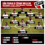 É HOJE! Tricolor decide vaga à fase de grupos da Libertadores! E o time está escalado! #VamosSãoPaulo! https://t.co/oVd2R5edvE