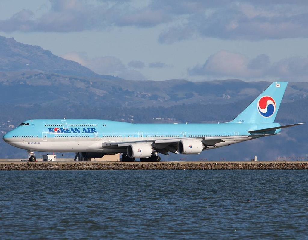 RT @jacobvvz: By abspotting on Instagram: KAL -8i koreanair boeing boeing747 748 747 sfo ksfo sa… https://t…