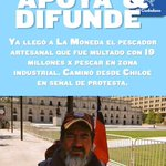 Ya llegó a la moneda el Pescador Artesanal... Caminando desde Chiloé. RT https://t.co/o1I7rQEVSs