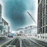 #wrlrt Dome construction. The future is coming. #temporary #lrt #waterloo #masstransit https://t.co/rnNv7rq1Qz