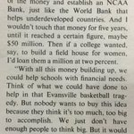 Joe Paternos idea, in 1978, for the money generated from a college football playoff https://t.co/iHTxfpUpsK