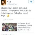 Se diz Time do Povo, quer registrar termo na justiça mas tem torcedores assim @Cruzeiro ?? Hastag não muda isso não. https://t.co/DilLCHBioi