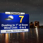 Bundle up tonight!  Lows in the single digits, wind chills below zero.  More on the snow chances at 11pm on 13abc. https://t.co/NkMqVfW9zb