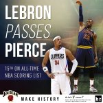 Congrats to @KingJames on passing Paul Pierce for 15th on the all-time NBA scoring list #MakeHistory https://t.co/2aH1kXi6uH